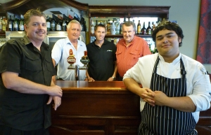 From left: Manager Peter Appleby, owners Steve & Matt Graham and Greg Kennedy with head chef Sam Pinzone.