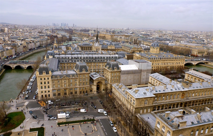 the view from Notre Dame Cathedral