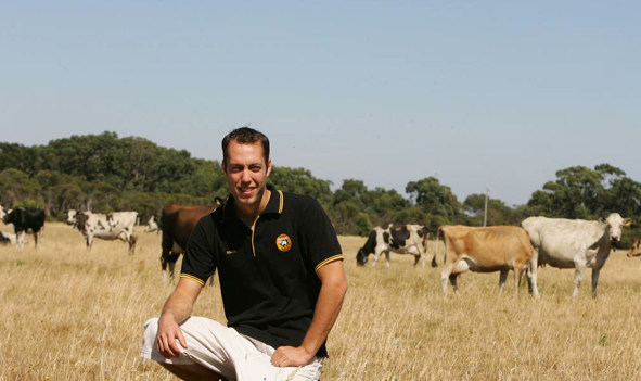 Schulz Organic Farms' Simon Schulz, 28, is in the running for a young achiever award.