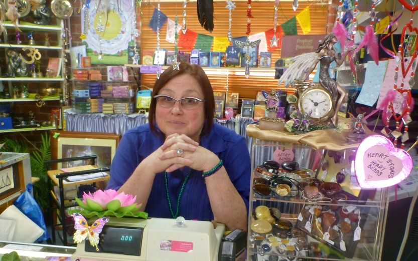 Location, location: Robyn Jenes in her Earth Harmony shop.