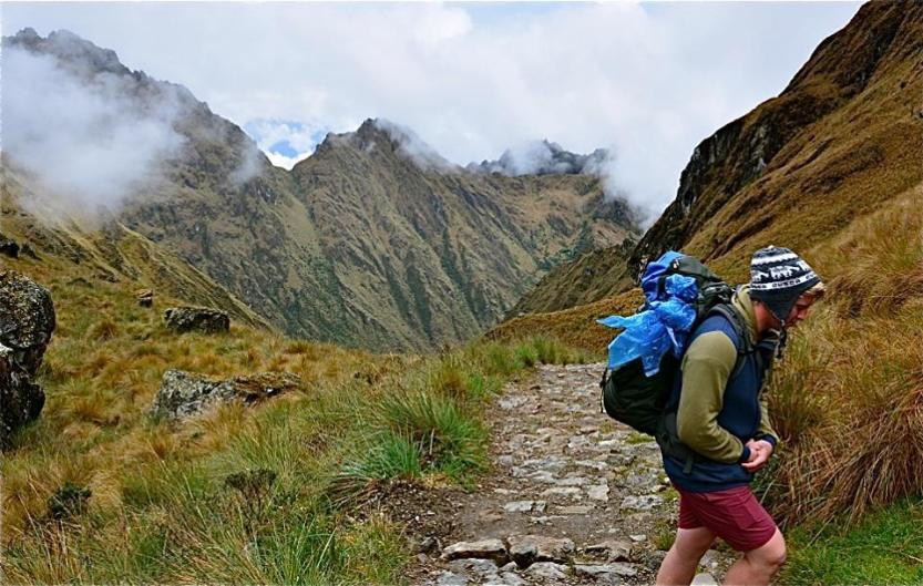 Trekking near Dead Woman's Pass