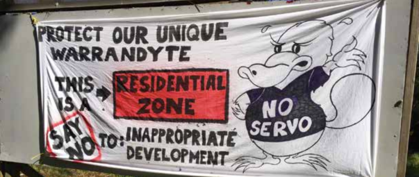 A sign put up by disgruntled residents last month.