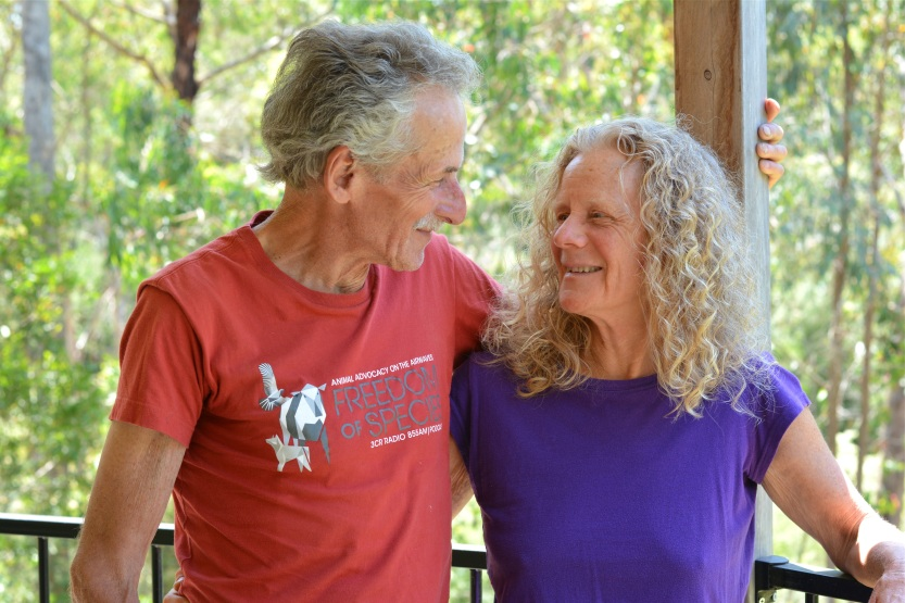 Alan and Janette, happy to be home after running around Australia for a year.