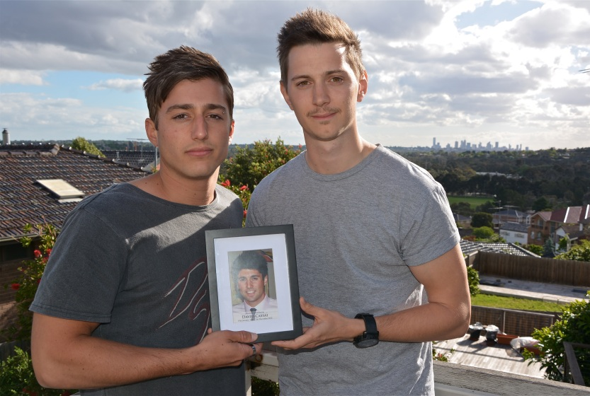 Vincent Petrilli and Jack Wright, who were friends with one-punch victim David Cassai.